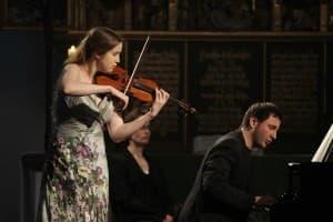 Vilde Frang und Michail Lifits beim Auftakt der Gezeitenkonzerte; Foto: Karlheinz Krämer