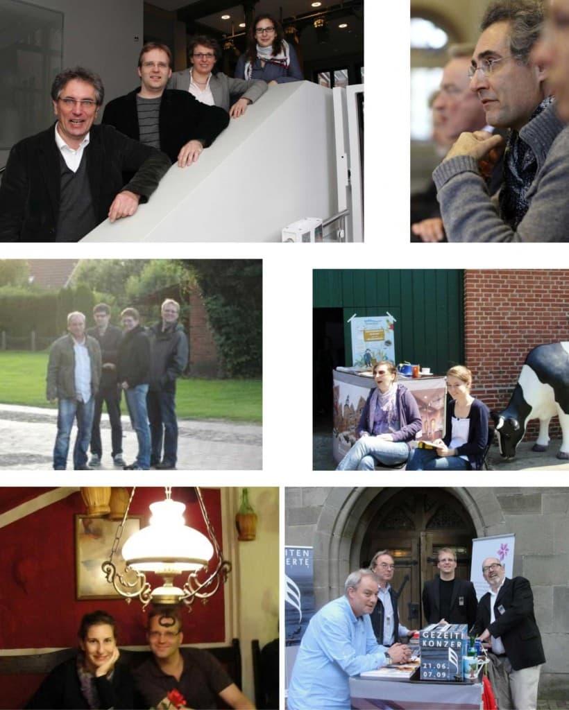 Längst nicht alle, aber eine kleine Auswahl: Das Team der Gezeitenkonzerte 2012