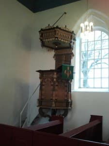 Kanzel, Kirche Holtgaste, Foto: Wibke Heß