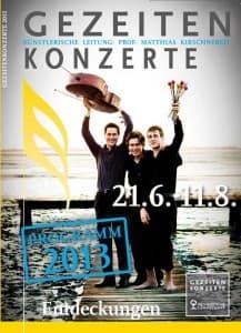 Titel Programm Gezeitenkonzerte 2013