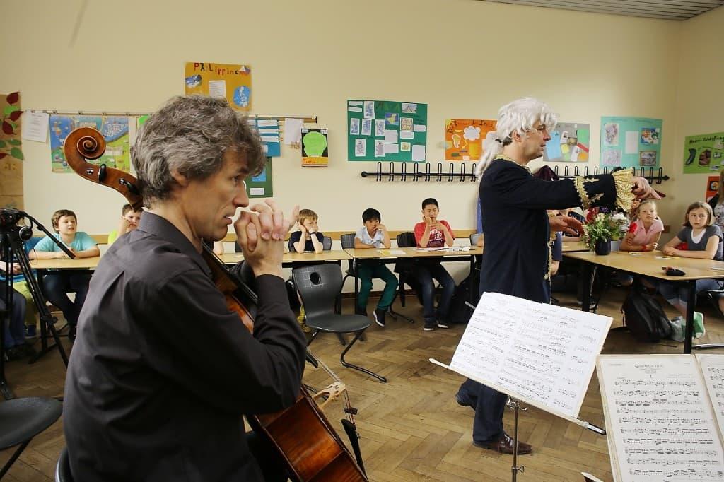 Rhapsody in School mit dem Vogler Quartett, Foto: Karlheinz Krämer