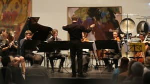 Das neophon ensemble beim Gezeitenkonzert mit Jörg Widmann in der Kunsthalle Emden, Foto: Karlheinz Krämer