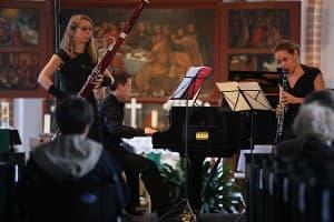 Rheingold Trio: Lydia Pantzier (Fagott), Robert Aust (Klavier) und Bettina Aust (Klarinette), Foto: Karlheinz Krämer