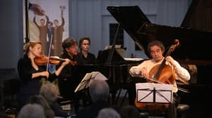 Mendelssohn Trio Berlin: Uta Klöber (Violine), Andreas Frölich (Klavier) und Ramón Jaffé (Violoncello), Foto: Karlheinz Krämer