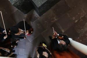 Warten auf den Auftritt - Mitglieder der Academy of Taiwan Strings, Foto: Karlheinz Krämer