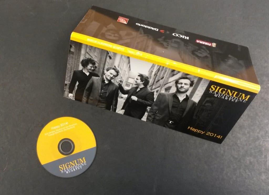 Weihnachtskarte vom SIGNUM Saxophon Quartett