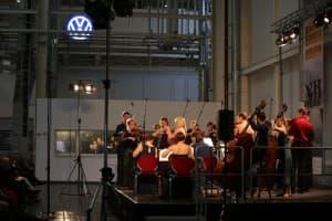 Auftakt der Gezeitenkonzerte mit Tine Thing Helseth und dem Ensemble Allegria im Volkswagen Werk Emden, Foto: Karlheinz Krämer