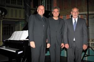 v.l.n.r.: Andreas Schmidt, Matthias Kirschnereit und Christoph Schoener, Foto: Reinhard Former