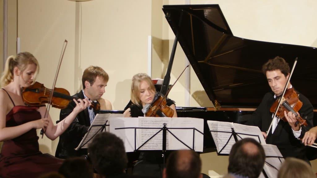 Elegio Quartett mit Vasyl Kotys bei der 2. Langen Nacht der Gipfelstürmer der Gezeitenkonzerte, Foto: Karlheinz Krämer