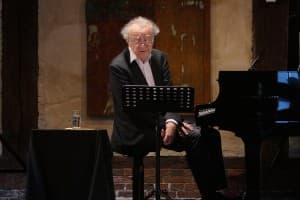 Alfred Brendel beim Gezeitenkonzert in Gristede, Foto: Karlheinz Krämer