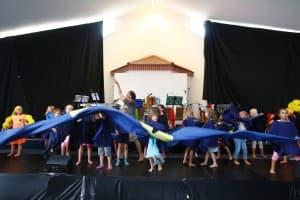 Erlebnistag mit zwei Musical-Märchen mit den Nekkepenns und vielen Kindern bei den Gezeitenkonzerten 2014, Foto: Karlheinz Krämer