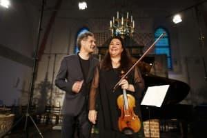 Matthias Kirschnereit und Latica Honda-Rosenberg, Foto: Karlheinz Krämer