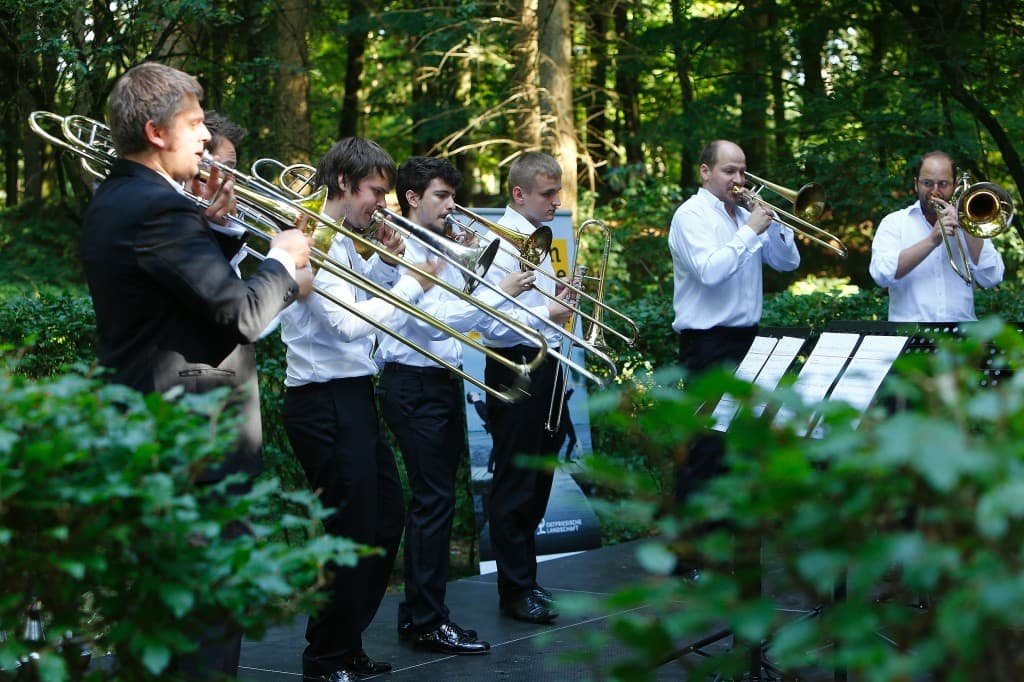 Trombone Unit Hannover beim Gezeitenkonzert im Heseler Wald, Foto: Karlheinz Krämer