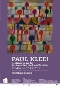 Plakat zur Ausstellung Paul Klee! in der Kunsthalle Emden