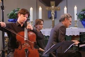 Daniel Müller-Schott und Matthias Kirschnereit beim Gezeitenkonzert in Wittmund, Foto: Karlheinz Krämer