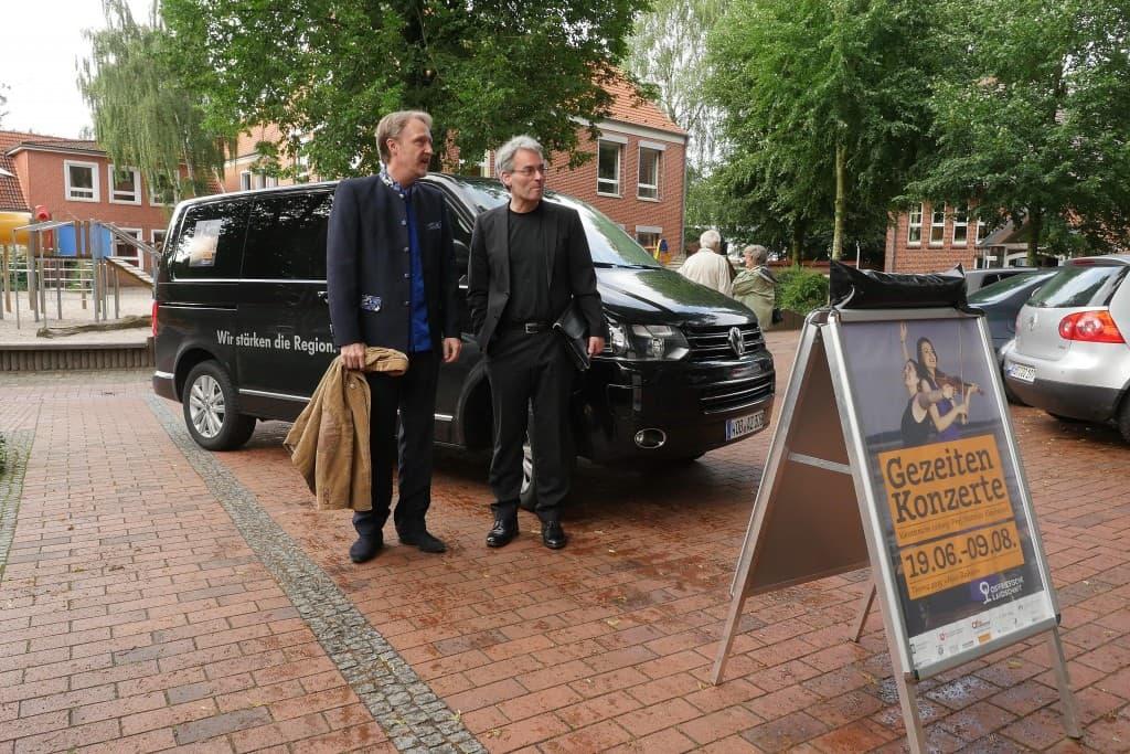 Fühlten sich wohl in der Region Ostfriesland: Albrecht Mayer und Markus Becker, Foto: Karlheinz Krämer