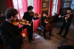 Das vision string quartet beim Gezeitenkonzert in Dangast, Foto: Karlheinz Krämer