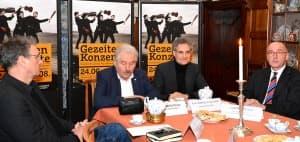 v.l.n.r.: Dirk Lübben, Rico Mecklenburg, Matthias Kirschnereit, Joachim Queck | Foto: R. Former