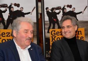 Guter Laune: Rico Mecklenburg und Matthias Kirschnereit | Foto: R. Former
