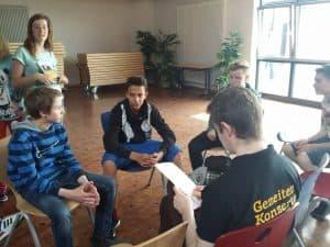 Jonas und Florian beim Interview; Foto: Wiebke Schoon