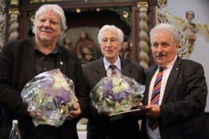 Gerd Brandt, Carl Osterwald und Landschaftspräsident Rico Mecklenburg, Foto: Karlheinz Krämer