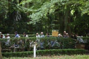 Viel los auf der Wüstung Kloster Barthe im Heseler Wald beim Gezeitenkonzert, Foto: Karlheinz Krämer