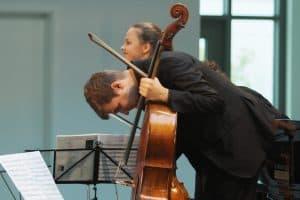 Glückliche Musiker: Alexandra Conunova und Andrei Ioniţă; Foto: Karlheinz Krämer