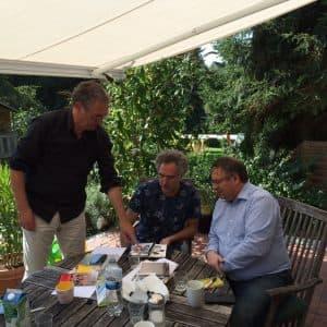 Dirk Lübben, Matthias Kirschnereit und Ulf Brenken beim Brainstorming